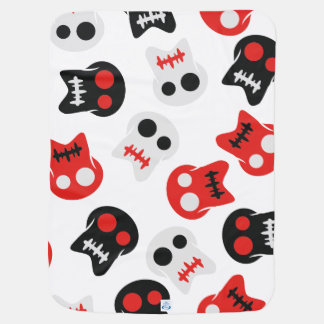 Comic Skull colorful pattern Receiving Blanket