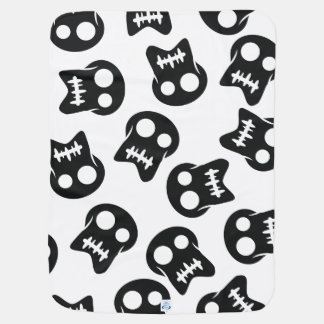 Comic Skull colorful pattern Receiving Blankets