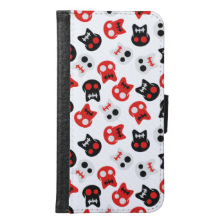 Comic Skull colorful pattern Samsung Galaxy S6 Wallet Case