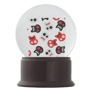 Comic Skull colorful pattern Snow Globe