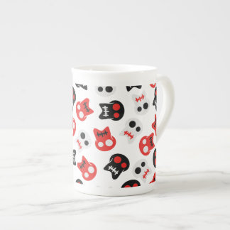 Comic Skull colorful pattern Tea Cup