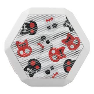 Comic Skull colorful pattern White Bluetooth Speaker