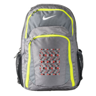 Comic Skull with bones colorful pattern Backpack