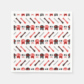 Comic Skull with bones colorful pattern Disposable Napkins