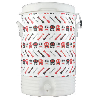 Comic Skull with bones colorful pattern Drinks Cooler