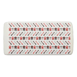 Comic Skull with bones colorful pattern Eraser