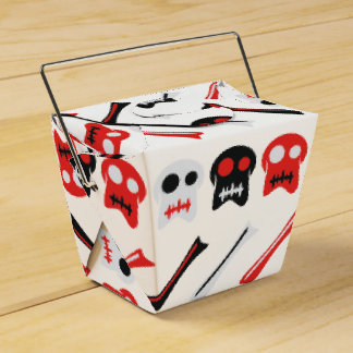 Comic Skull with bones colorful pattern Favour Box