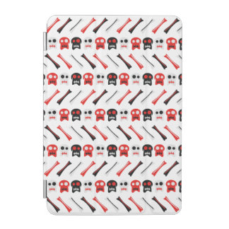 Comic Skull with bones colorful pattern iPad Mini Cover