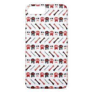 Comic Skull with bones colorful pattern iPhone 8 Plus/7 Plus Case