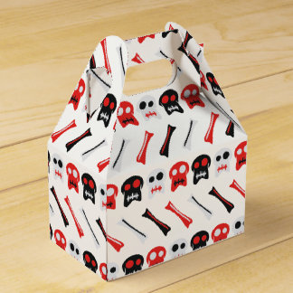 Comic Skull with bones colorful pattern Party Favour Box