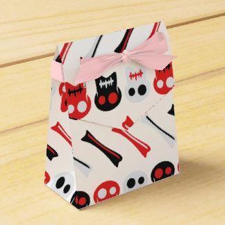 Comic Skull with bones colorful pattern Party Favour Boxes