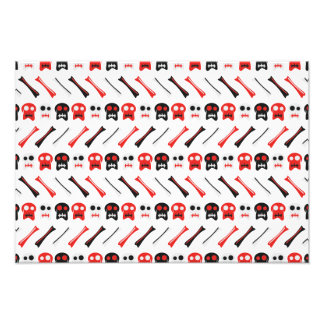 Comic Skull with bones colorful pattern Photo