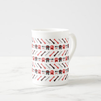 Comic Skull with bones colorful pattern Tea Cup