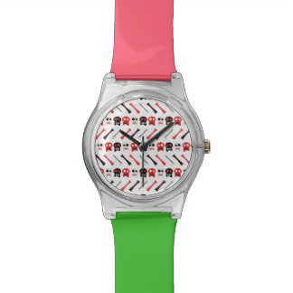 Comic Skull with bones colorful pattern Watches
