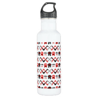 Comic Skull with crossed bones colorful pattern 710 Ml Water Bottle