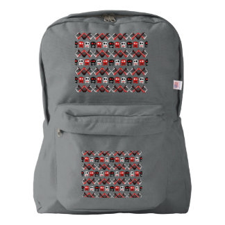 Comic Skull with crossed bones colorful pattern Backpack