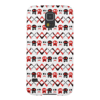 Comic Skull with crossed bones colorful pattern Galaxy S5 Cover
