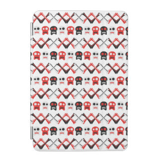 Comic Skull with crossed bones colorful pattern iPad Mini Cover