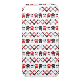 Comic Skull with crossed bones colorful pattern iPhone 8/7 Case