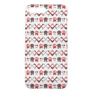 Comic Skull with crossed bones colorful pattern iPhone 8 Plus/7 Plus Case