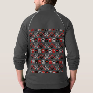 Comic Skull with crossed bones colorful pattern Jacket