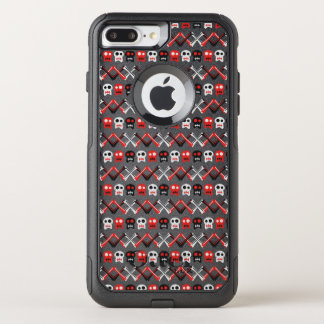 Comic Skull with crossed bones colorful pattern OtterBox Commuter iPhone 8 Plus/7 Plus Case