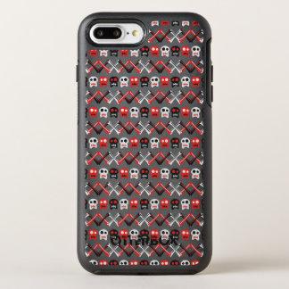 Comic Skull with crossed bones colorful pattern OtterBox Symmetry iPhone 8 Plus/7 Plus Case