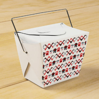 Comic Skull with crossed bones colorful pattern Party Favour Box