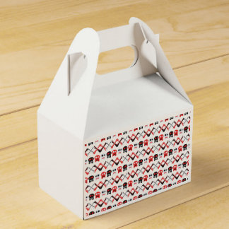 Comic Skull with crossed bones colorful pattern Party Favour Boxes
