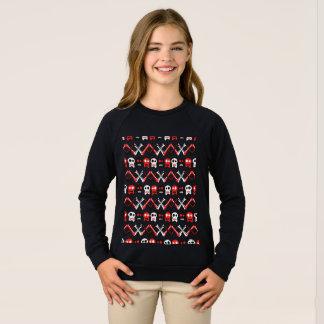 Comic Skull with crossed bones colorful pattern Sweatshirt
