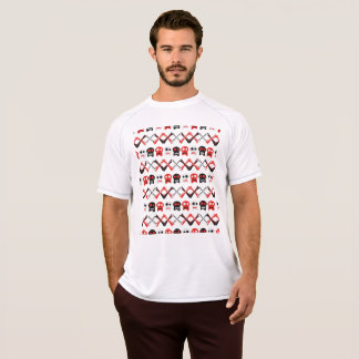 Comic Skull with crossed bones colorful pattern T-Shirt