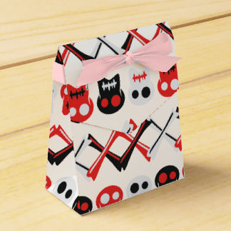 Comic Skull with crossed bones colorful pattern Wedding Favour Box