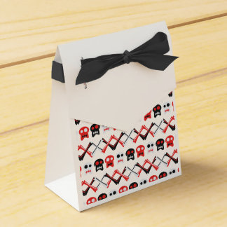 Comic Skull with crossed bones colorful pattern Wedding Favour Boxes