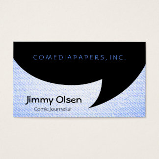 Comic Speech Bubble Business Card