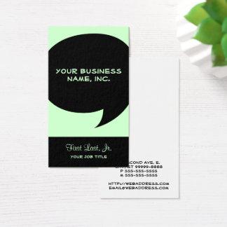 Comic Speech Bubble Business Card