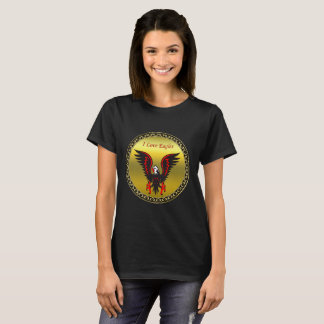 Comic strip Black and red eagle with gold foil T-Shirt