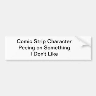 Comic Strip Character Car Bumper Sticker