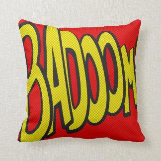 Comic-strip cushion – badoom!