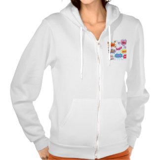 Comic Style Girly Super Hero Design Hooded Sweatshirts