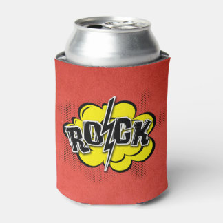 Comic style rock illustration can cooler