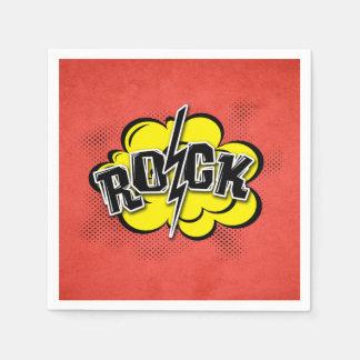 Comic style rock illustration disposable napkin
