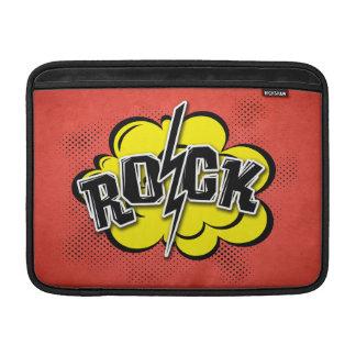 Comic style rock illustration MacBook sleeve