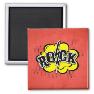 Comic style rock illustration magnet