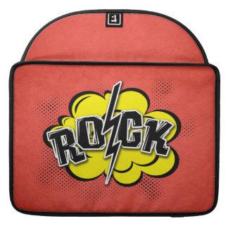 Comic style rock illustration sleeve for MacBook pro