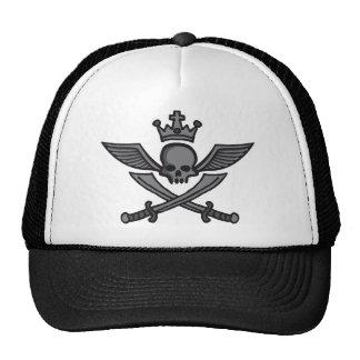 comic styles wing skull trucker hats
