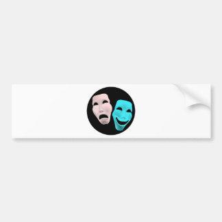 Comic Theatre Masks Bumper Sticker