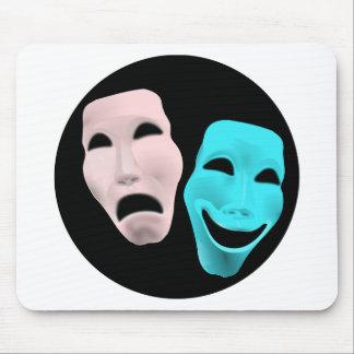 Comic Theatre Masks Mouse Mat