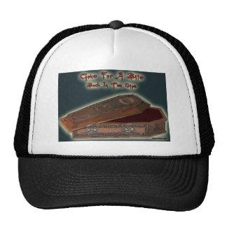 Comic Vampire Baseball Cap - Gone for a bite Trucker Hat