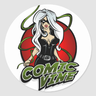 Comic Vine Logo Red sticker