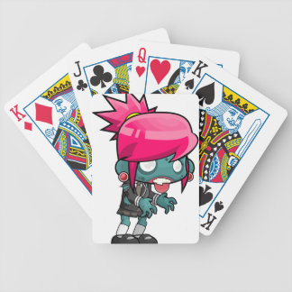 Comic Woman Zombie Bicycle Playing Cards